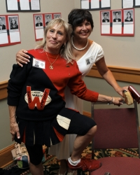 Cheerleader Lesley and Nancy Leone Lavorato